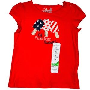 Jumping Beans Red Cotton All American T-shirt 24 M